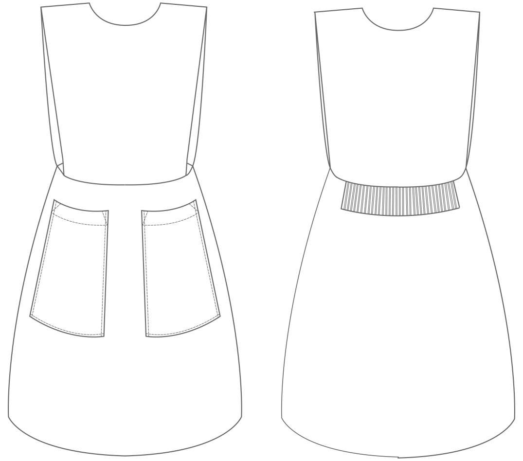Pinafore dress school